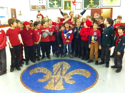 Mohican Cubs letting off steam after their Sponsored Silence for Comic Relief 2013