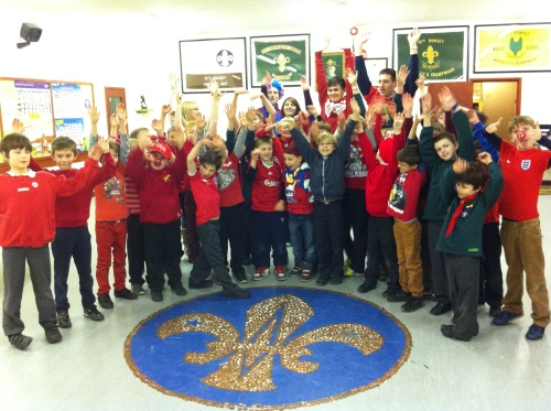 Mohican Cubs and their leaders letting off steam after their Sponsored Silence for Comic Relief 2013