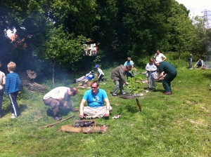 Backwoods Cooking group, Father & Son day