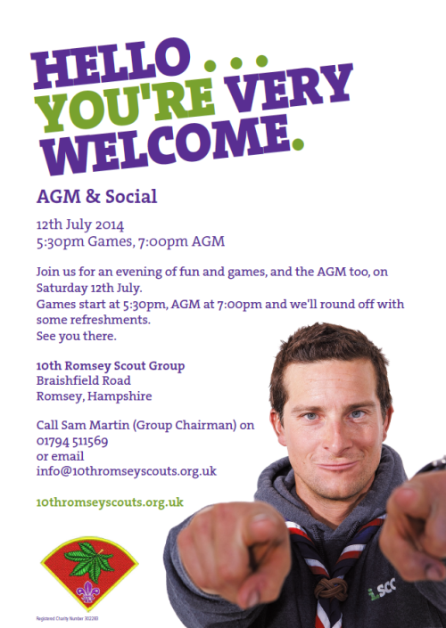 Join us on Sat 12th July for our AGM (And some Games)