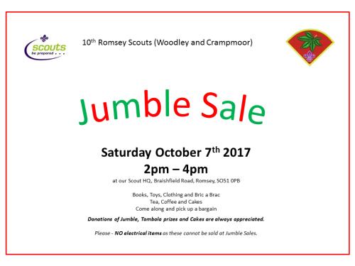 2017.10.07 Scouts Jumble Sale