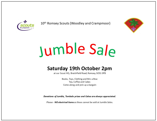 Jumble Sale Oct 2019